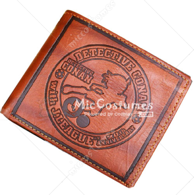 The Eleventh Striker Conan Bifold Leather Wallet Brown