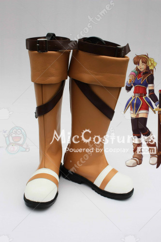 The Legend of Heroes Trails in the Sky Anelace Elfead Cosplay Boots