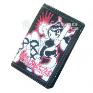 The World God Only Knows Trifold Canvas Wallet Black