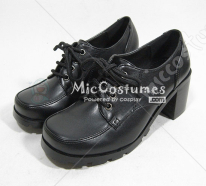 Thick Middle Heels Square Toe Front Tie Japanese School Shoes