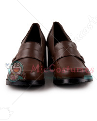Thick Middle Heels Square Toe Strapped Vamp Japanese School Shoe