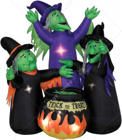 Three Witches with Cauldron
