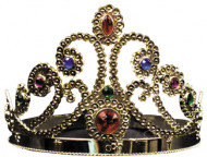 Tiara Gold Jeweled Plastic