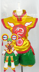 Tiger Bunny Huang Pao-Lin Dragon Kid Fight Cosplay Costume