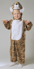 Tiger Striped Plush Costume