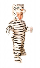 Tiger White Plush Toddler Costume