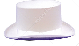 Top Hat Felt White