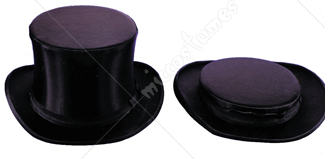 Top Hat Silk Coll Black