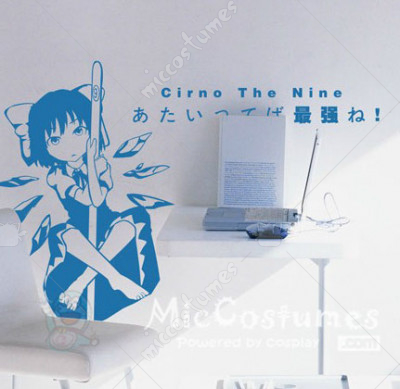 Touhou Project Cirno Wall Sticker