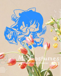 Touhou Project Cute Cirno Wall Sticker