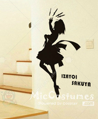 Touhou Project Izayoi Sakuya Waterproof Wall Sticker