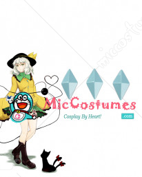 Touhou Project Koishi Komeiji Costume Button