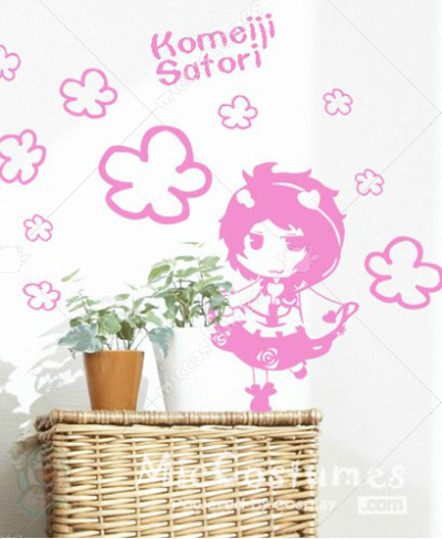 Touhou Project Komeiji Satori Wall Sticker