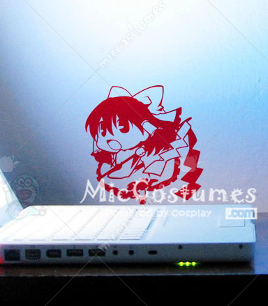 Touhou Project Reimu Hakurei Red Wall Sticker
