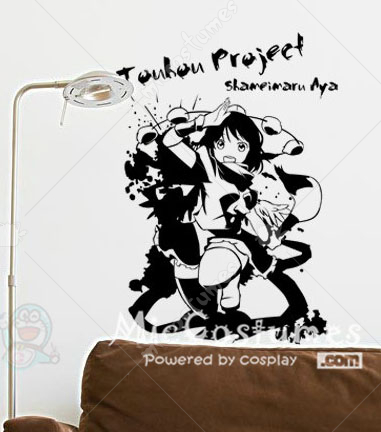 Touhou Project Shameimaru Aya Waterproof Wall Sticker