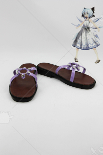 Touhou Project The Embodiment of Scarlet Devil Cirno Cosplay Shoes