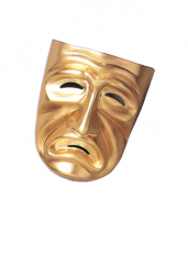 Tragedy Mask Gold