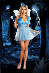 True Blue Fairy Adult Plus Costume