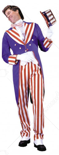 Uncle Sam Purple Tuxedo Adult Costume