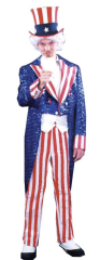 Uncle Sam Sequin Deluxe Adult Costume