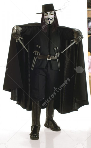 V For Vendetta Grand Hert XL Adult Costume