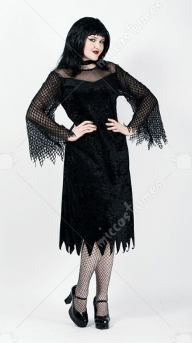 Vamp Robe with Mesh Sleeves Adult Plus Costume