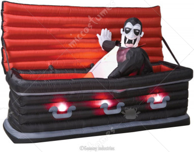 Vampire Rising from Coffin