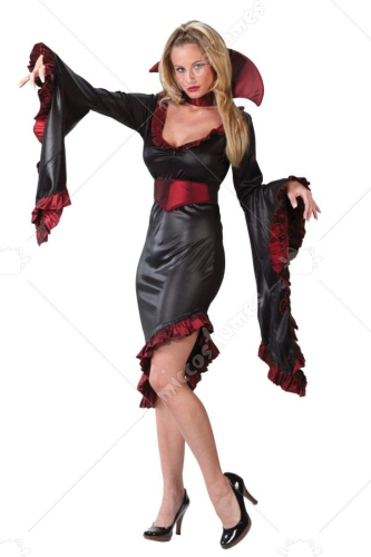 Vampiress Ruffle W Collar Costume
