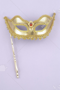 Venetian Gold Stick Mask