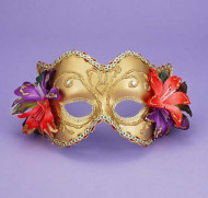 Venetian Mask GD-GD W Flowers