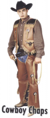 Vest And Chaps Set Adult Costume