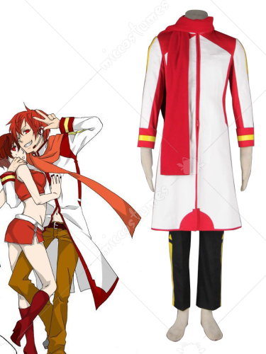 Vocaloid Akaito White Cosplay Costume