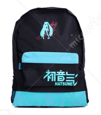 Vocaloid Miku Black School Bag