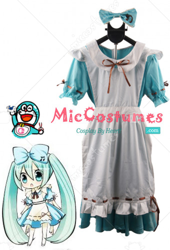 Vocaloid Miku Alice Cosplay Costume