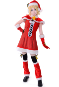 Vocaloid Rin Christmas Cosplay Costume