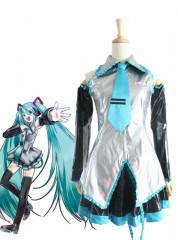 Vocaloid Hatsune Miku Leather Cosplay Costume