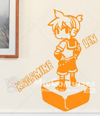 Vocaloid Len Orange Wall Sticker