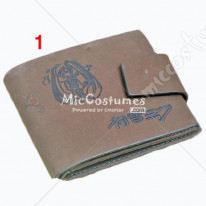 Vocaloid Miku Bifold Leather Wallet Grey