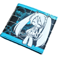 Vocaloid Miku Bifold Wallet Blue