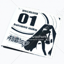 Vocaloid Miku Bifold Wallet White
