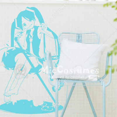 Vocaloid MIKU Blue Wall Sticker