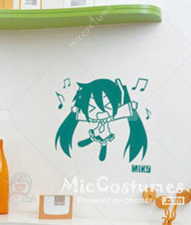 Vocaloid MIKU Dark Green Wall Sticker