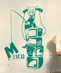 Vocaloid MIKU Green Wall Sticker