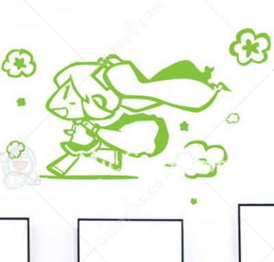 Vocaloid MIKU Green Waterproof Wall Sticker