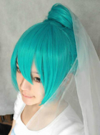 Vocaloid Miku Bride Cosplay Wig
