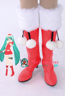 Vocaloid Miku Christmas Cosplay Shoes