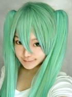 Vocaloid Miku Cosplay Wig Special Black Dress Design