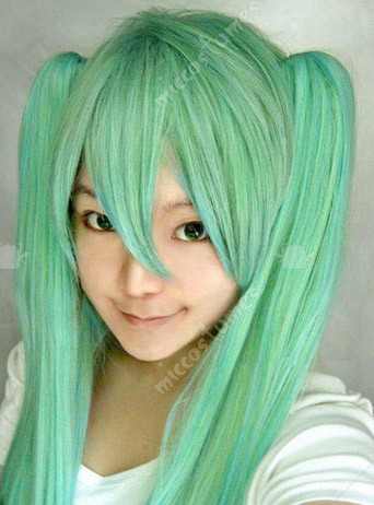 Vocaloid Miku Cosplay Wig Special Black Dress Design