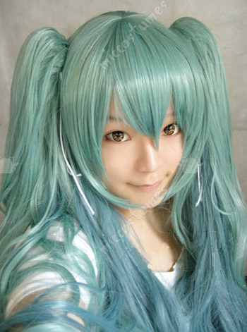 Vocaloid Miku Rondo of the Sun and Moon Cosplay Wig