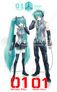Vocaloid Mikuo Cosplay Tattoo Sticker